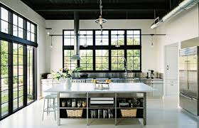 View in gallery Stainless steel surfaces in an industrial kitchen
