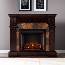cartwright wall or corner electric fireplace mantel package in espresso fe9287