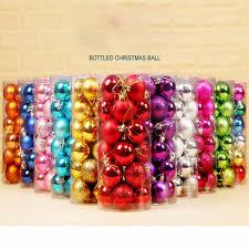 24pcs/lot <b>30mm Christmas</b> Tree Decor Ball Bauble <b>Xmas</b> Party ...
