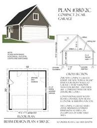two car garage plan has minimum dimensions and standard wide garage door roof is framed with rafters and ceiling joists creating big attic e for light
