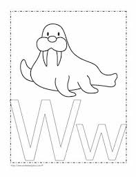 It's fun to learn the alphabet! The Letter W Coloring Page Worksheets