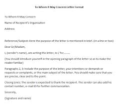 Dear Whomever It May Concern Cover Letter Proper Letter Format To Whom It May Concern Cover Letter