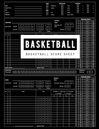 Basketball Score Sheets Basketball Score Sheet Basketball Game Record Book