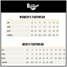 Sizing Chart M Michaels Footwear