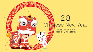 During the spring festival, people will express their best wishes to their relatives and friends. 28 Lucky Chinese New Year Greetings And What They Mean Bilingua