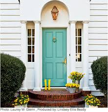 Turquoise front door Benjamin Moore Pages Crystal Cattle Crystal Cattle Turquoise Thursday Turquoise Front Door