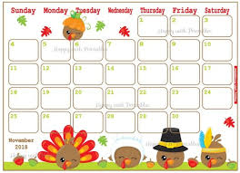 November Through November Calendars Calendar November 2018 Thanksgiving Planner Printable Etsy