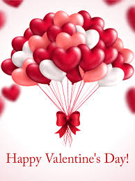 Valentinsday Card Heart Balloon Happy Valentines Day Card Birthday Greeting Cards