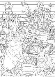 Easter Bunnies 塗り絵 ぬり絵塗り絵ぬりえ イラスト