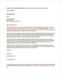 How To Write A Warning Letter To An Employee 9 Employee Warning Letter Template Pdf Doc Free