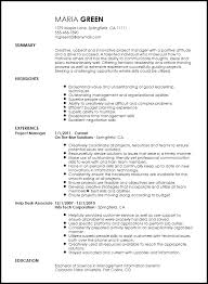 Manager Resume Template Gorgeous Free Creative Project Manager Resume Template ResumeNow