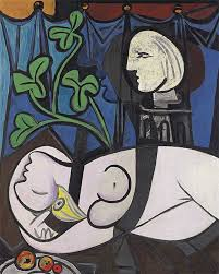 pablo picasso green leaves and bust