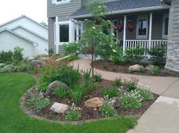 Landscape, Amusing Green Square Vintage Grass Landscaping Ideas Around  Patio Ornamental Trees Ideas: landscaping ...