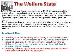 the welfare state when the beveridge report was published in  the welfare state