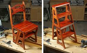 build a convertible step stool and chair