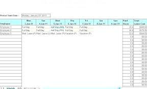 Work Schedule Template Word