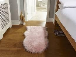 pink sheepskin rug ensuite bedroom the rug er good homes