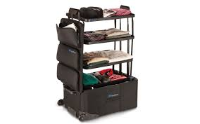Suitcase With Drawers Shalfpack Starts Out As A Suitcase Turns Into A Dresser Travel