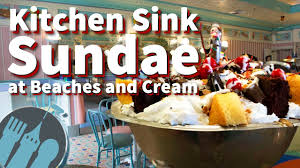 the kitchen sink sundae at beaches and cream