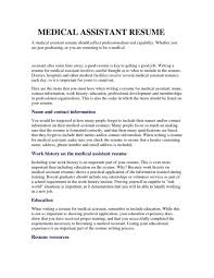 Medical Assistant Example Resume Medical assistant Resume Example Resume Resume Examples Medical 23