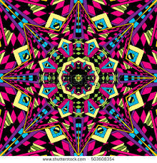 Trippy Patterns Awesome Psychedelic Trippy Hippie 48 S Colors Seamless Stock Vector Royalty