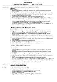 Planning Forecasting Analyst Resume Samples Velvet Jobs