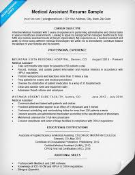 Resume Examples Medical Assistant Medical Resume Medical Fice