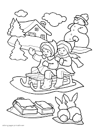 Small Picture Winter coloring pages for kids printable