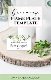 Greenery Wedding Placement Cards Eucalyptus Leaves Place