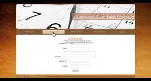 Automated College Timetable Generator Youtube