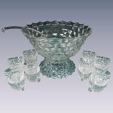 punch bowl set big w with pedestal glass ladle cups full 1 l punch bowl set