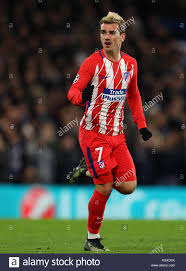 Antoine Griezmann von Atletico Madrid - Chelsea v Atletico Madrid, UEFA  Champions League, Stamford Bridge, London, 5. Dezember 2017 Stockfotografie  - Alamy