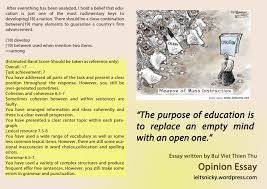opinion essay some people say that education system is the only education1 education2