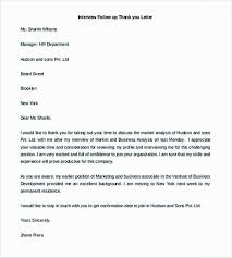 Follow Up Thank You Letter Template Resume Interview For Publish Add