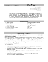 Fresh Administrative Assistant Resume Templates Npfg Online