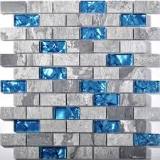 2019 gray stone blue glass mosaic tile kitchen backsplash sgmt602 bathroom shower wall tile from sophie charm 17 08 dhgate com