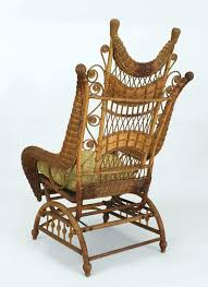 platform rocking chair rustic ornate wicker for chairs vintage