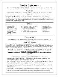 Resume Experience Examples Cashier Therpgmovie