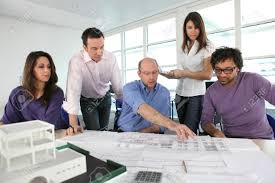 beautiful architect office group of architects working with architect .