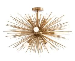 zanadoo starburst chandelier  fixed by arteriors  dshop