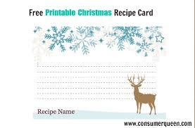 Printable Christmas Recipe Cards Free Printable Christmas Food Recipe Cards Holiday Themed