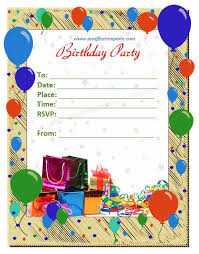 Party Invitations Template Word Best Sample Birthday The