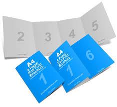 4 Panel Brochure Template 4 Panel 8 Page A4 Roll Fold Brochure Mockup Brochure