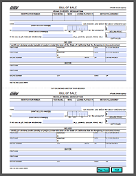 Dmv Ca Bill Of Sale Car Bill Of Sale Pdf Template Business