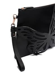 picture of sophia webster flossy erfly leather clutch bag