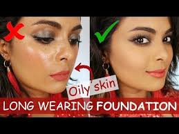 long lasting foundation tutorial for oily skin and normal bination skin types