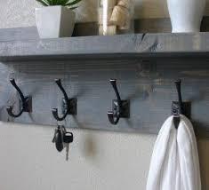Metal Coat Rack With Shelf Wall Mounted Coat Racks With Shelf Foter 39