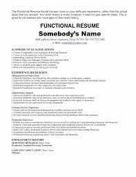 Examples Of Skills For A Resume Fresh Functional Resume Format For