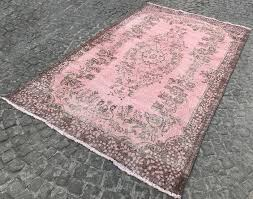 pink overdyed turkish rug treniq