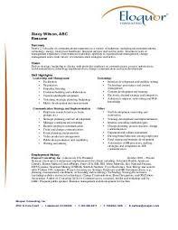 Stacy Wilson, ABC Resume - Eloquor Consulting Inc.